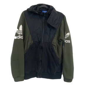 Adidas Green/Black Hooded Sweater/Jacket. Medium.